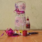 Как сделать вазу из пластиковой бутылки. Итоговый вид поделки.
