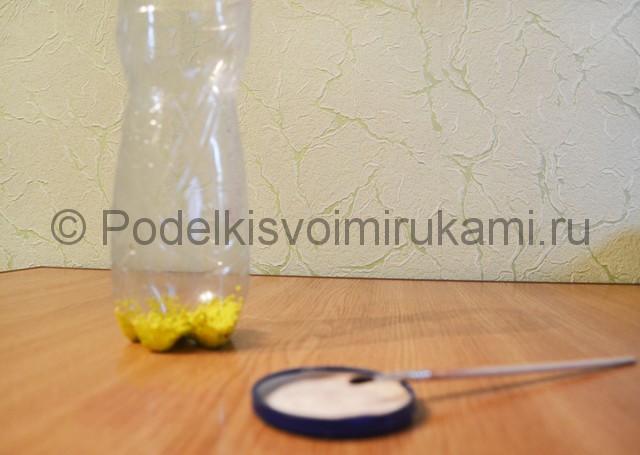 Как сделать вазу из пластиковой бутылки. Фото 4.