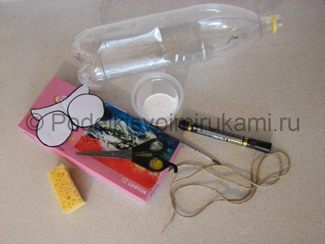 Кашпо из пластиковой бутылки своими руками. Фото 1.