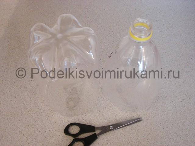 Кашпо из пластиковой бутылки своими руками. Фото 2.