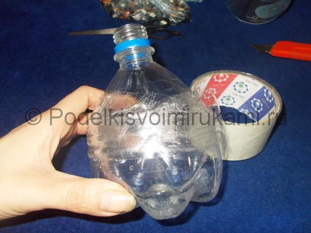 Кукла из пластиковых бутылок своими руками. Фото 3.