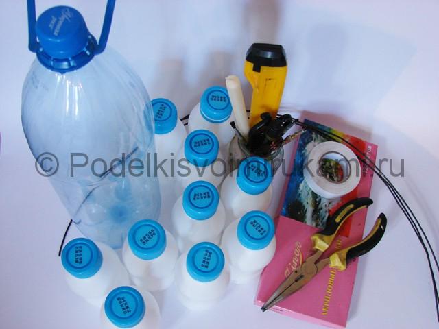 Ландыши из пластиковых бутылок. Фото <i>мастер</i> 1.