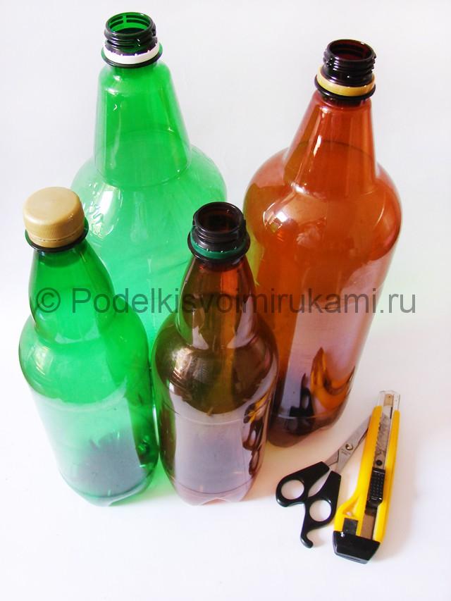 Пальма из пластиковых бутылок своими руками. Фото 1.