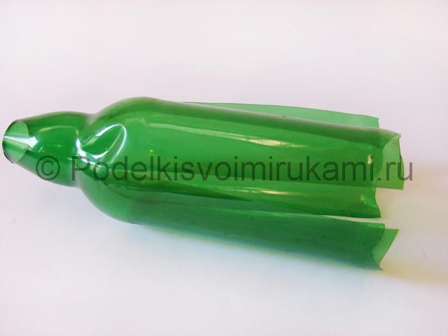 Пальма из пластиковых бутылок своими руками. Фото 13.