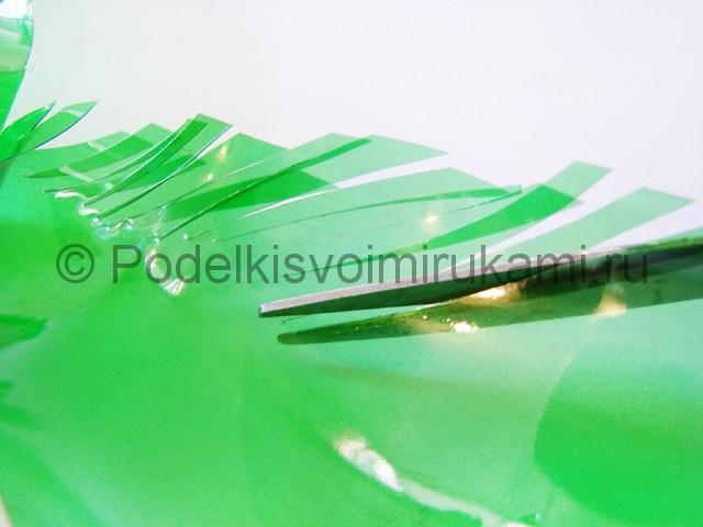 Пальма из пластиковых бутылок своими руками. Фото 15.