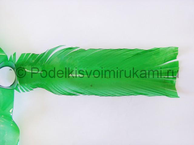 Пальма из пластиковых бутылок своими руками. Фото 16.