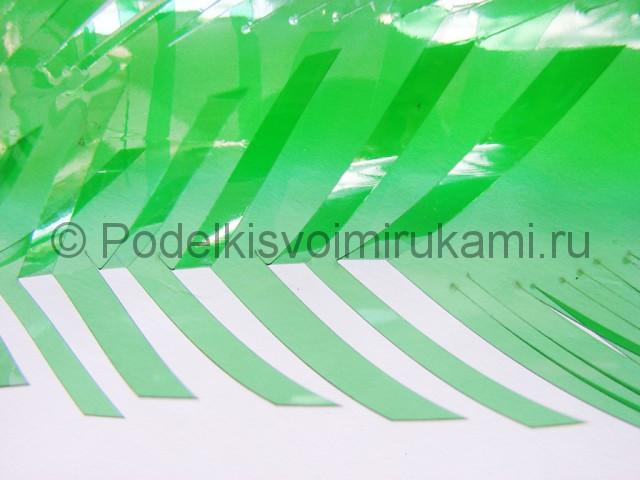 Пальма из пластиковых бутылок своими руками. Фото 17.