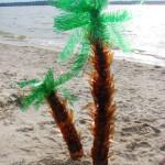 Пальма из пластиковых бутылок своими руками. Итоговый вид поделки.