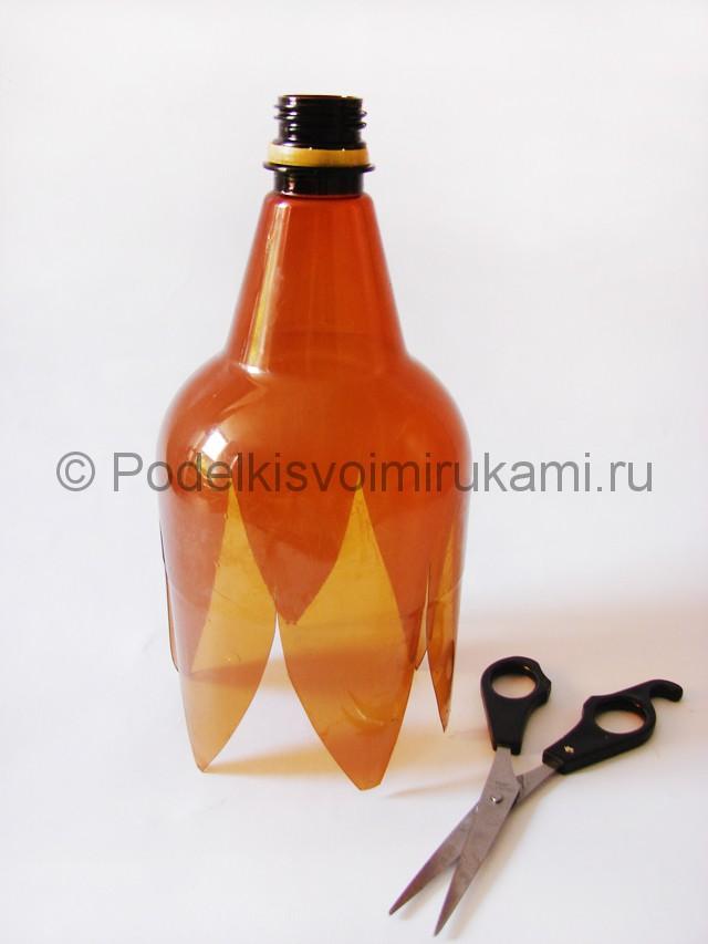 Пальма из пластиковых бутылок своими руками. Фото 4.