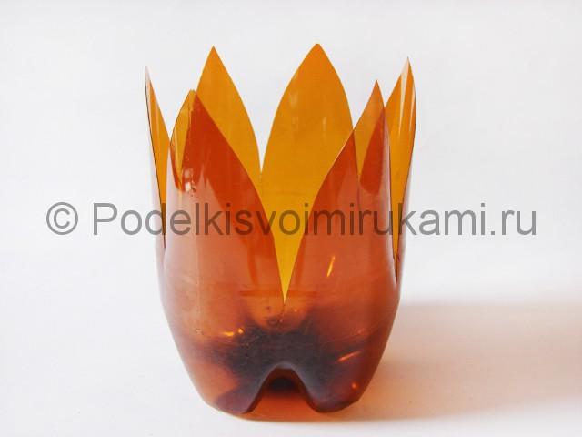 Пальма из пластиковых бутылок своими руками. Фото 5.