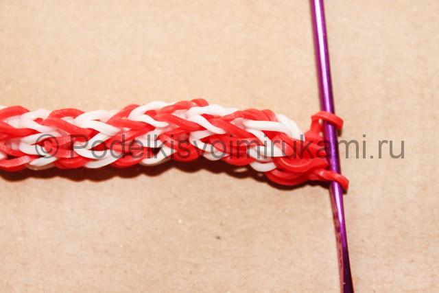 "Плетение браслета из резинок ""Дождик"" на станке. Фото 23."