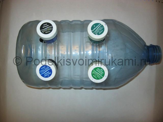 Поросёнок из пластиковой бутылки своими руками. Фото 11.