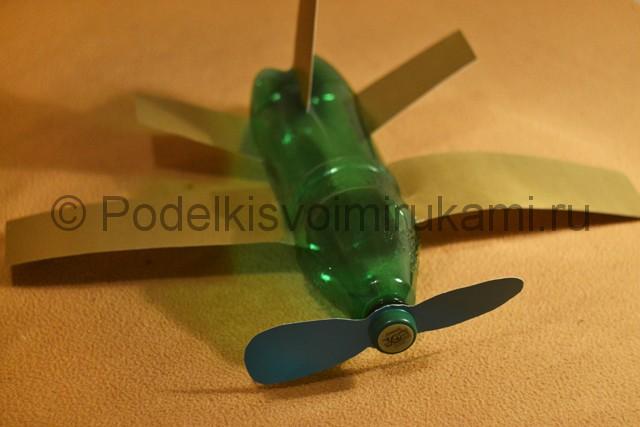 Самолёт из пластиковой бутылки своими руками. Итоговый вид поделки. Фото 2.