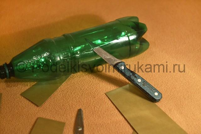 Самолёт из пластиковой бутылки своими руками. Фото 8.