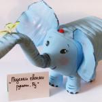 Слон из пластиковых бутылок своими руками. Итоговый вид поделки.