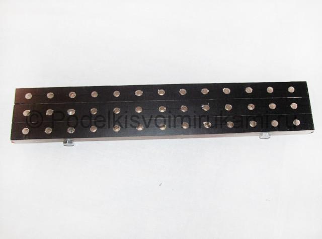 Станок для браслетов из резинок своими руками. Фото 17.
