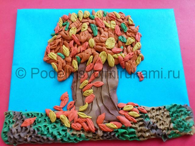 Лепим осенне дерево из пластилина - фото 11.