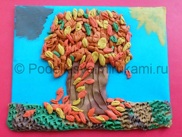 Лепим осенне дерево из пластилина - фото 12.