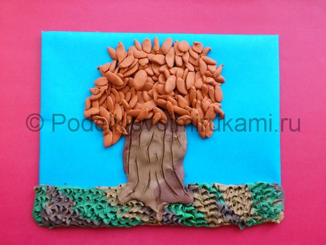 Лепим осенне дерево из пластилина - фото 9.