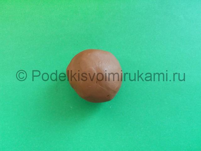 Лепка диплодока из пластилина - фото 1.