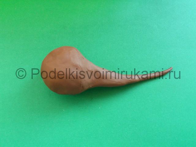 Лепка диплодока из пластилина - фото 2.