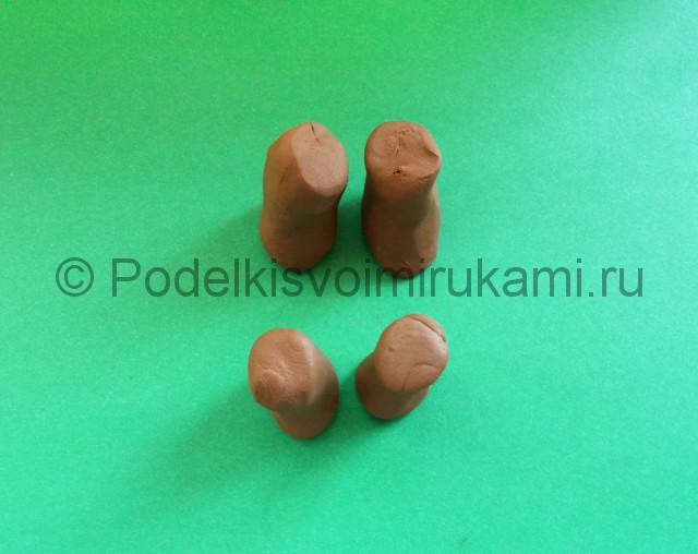 Лепка диплодока из пластилина - фото 5.
