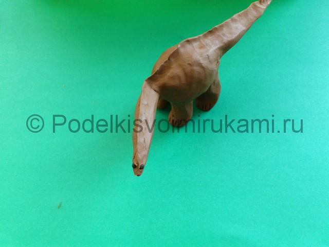 Лепка диплодока из пластилина - фото 7.