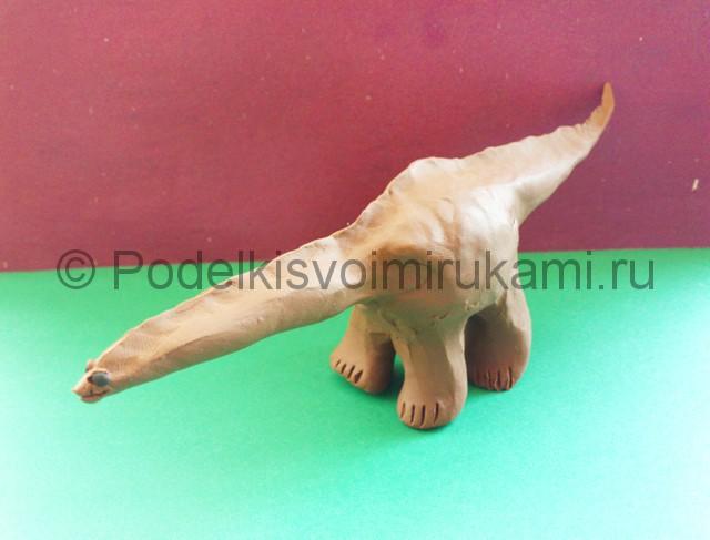 Лепка диплодока из пластилина - фото 8.