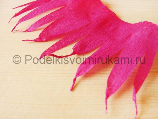 Изготовление георгин из бумаги - фото 12.