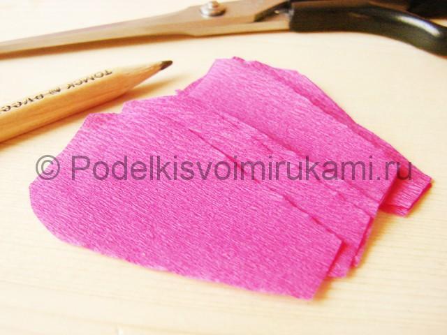 Изготовление георгин из бумаги - фото 18.