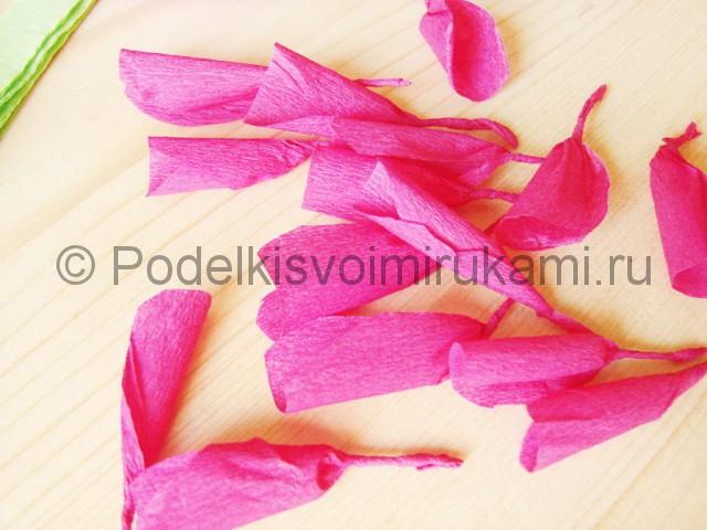 Изготовление георгин из бумаги - фото 21.
