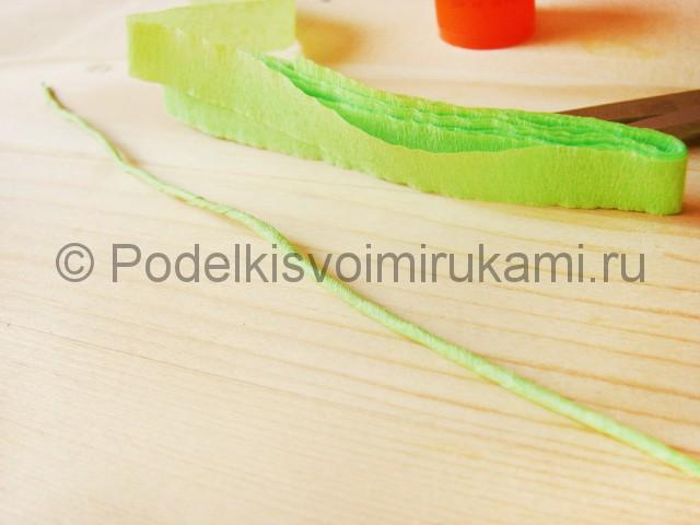 Изготовление георгин из бумаги - фото 4.