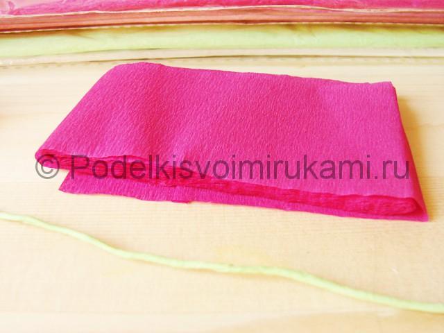 Изготовление георгин из бумаги - фото 5.