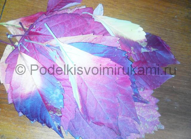 Делаем букет роз из осенних листьев - фото 1.