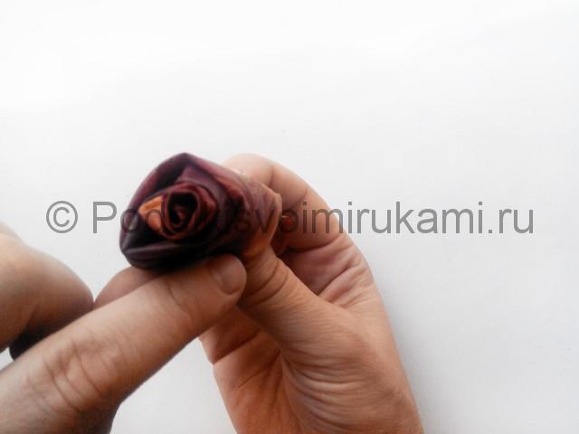 Делаем букет роз из осенних листьев - фото 5.