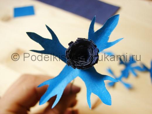 Бумажные цветы своими руками васильки 96