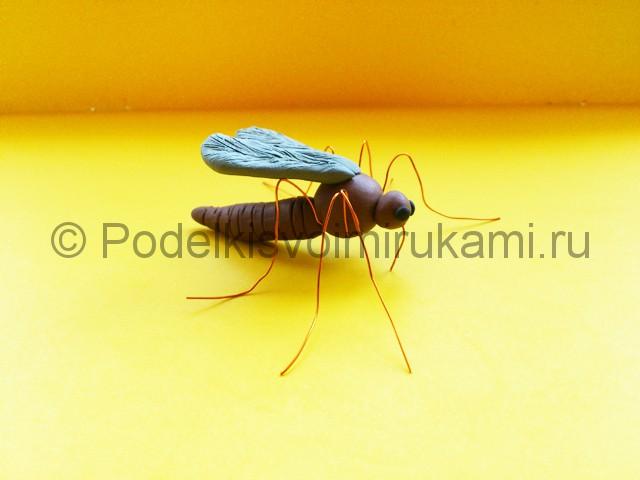 Лепка комара из пластилина - фото 11.