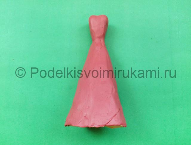 Лепка куклы Барби из пластилина - фото 6.