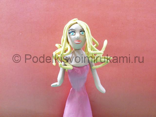 Лепка куклы Барби из пластилина - фото 9.