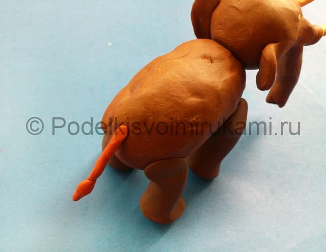 Лепка мамонта из пластилина - фото 10.
