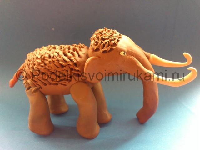 Лепка мамонта из пластилина - фото 12.