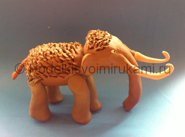 Лепка мамонта из пластилина - фото 13.