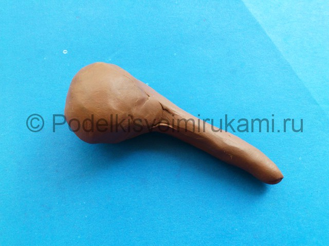 Лепка мамонта из пластилина - фото 2.