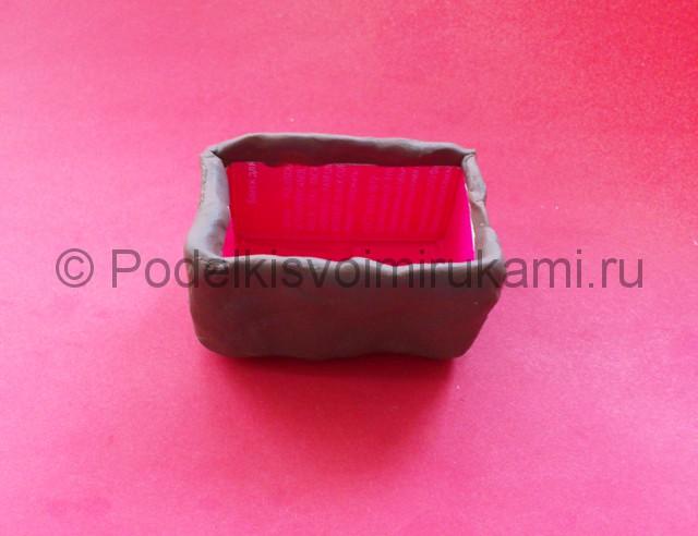 Лепка мангала из пластилина - фото 2.
