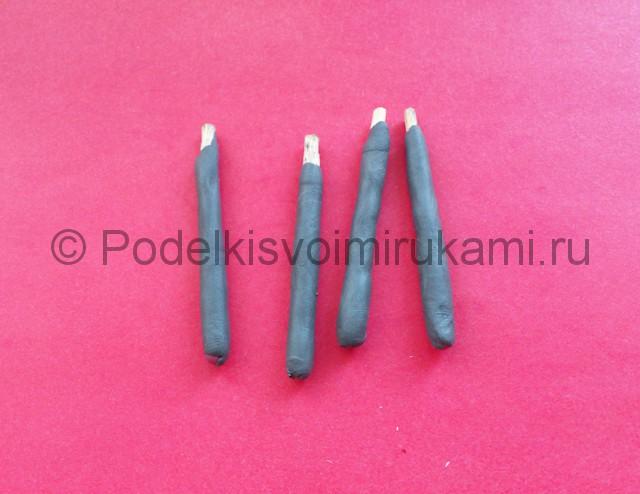 Лепка мангала из пластилина - фото 5.