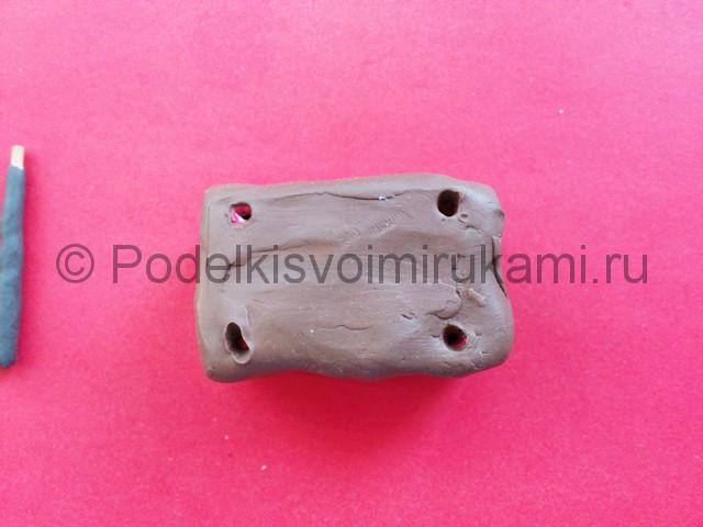 Лепка мангала из пластилина - фото 6.