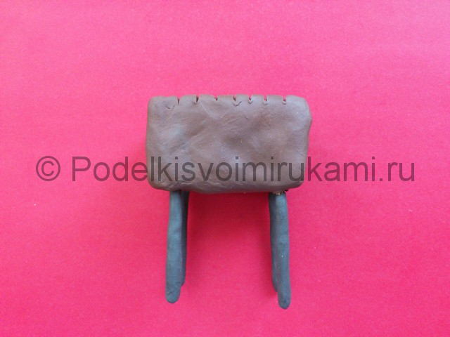Лепка мангала из пластилина - фото 7.