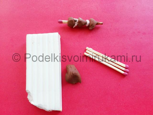 Лепка мангала из пластилина - фото 8.