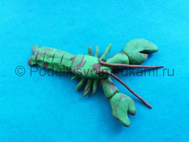 Лепка рака из пластилина - фото 11.