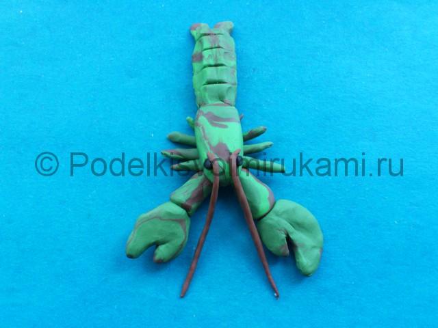 Лепка рака из пластилина - фото 12.